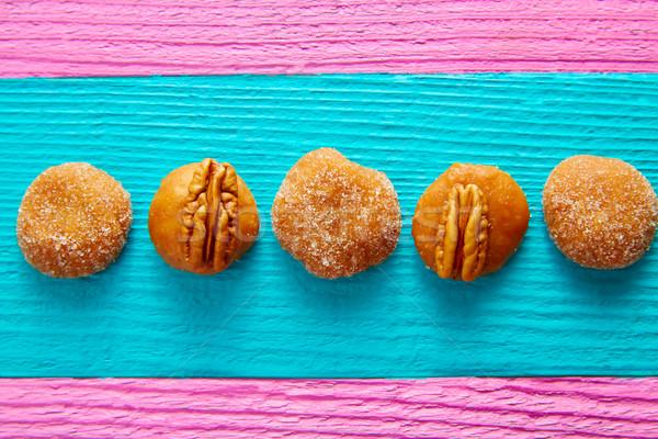 Karmel mexican candy słodycze cukru orzechy Zdjęcia stock © lunamarina