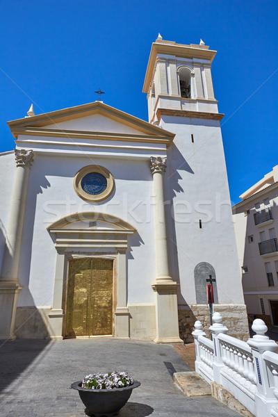 Kilise aziz İspanya beyaz akdeniz köy Stok fotoğraf © lunamarina
