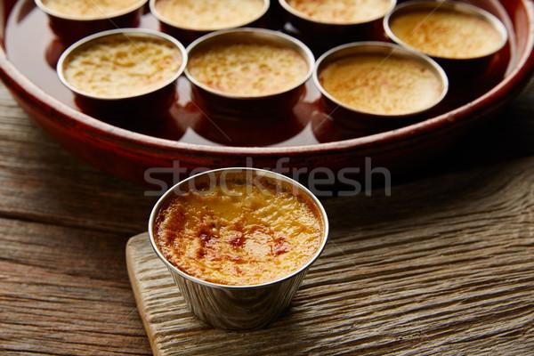 Creme caramelo sobremesa forno cozinhado água Foto stock © lunamarina
