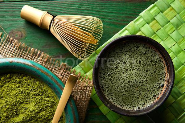 чай бамбук ложку Японский Сток-фото © lunamarina