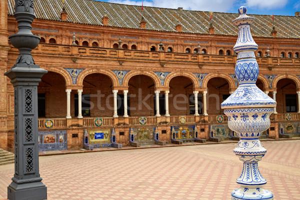 Испания квадратный город путешествия архитектура Европа Сток-фото © lunamarina