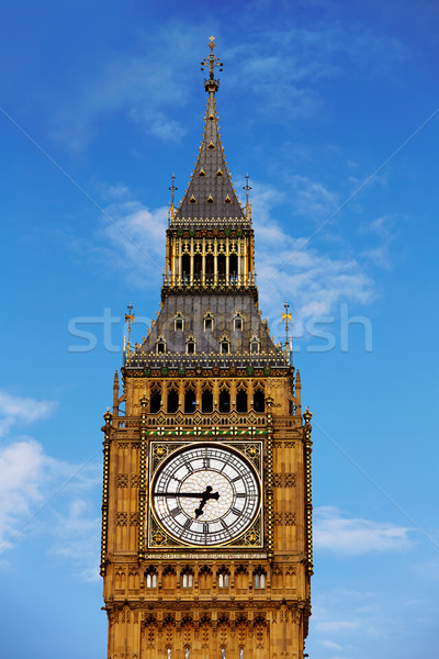 Big Ben reloj torre Londres Inglaterra primer plano Foto stock © lunamarina