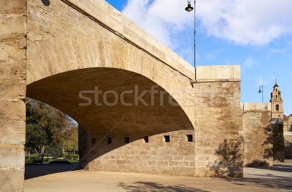セラーノ 橋 バレンシア 公園 スペイン 通り ストックフォト © lunamarina