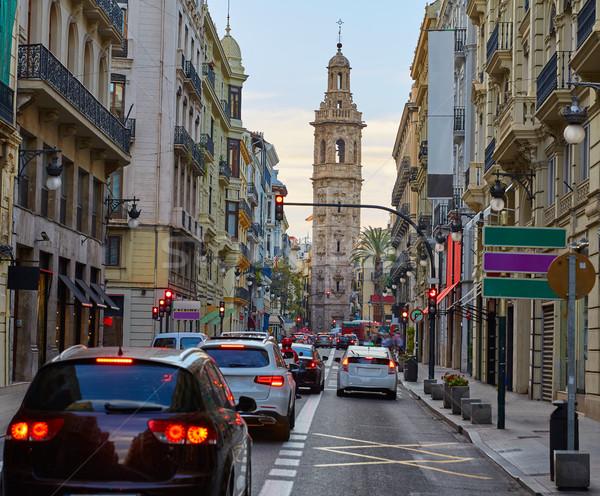 Calle de la Paz street of Valencia Stock photo © lunamarina
