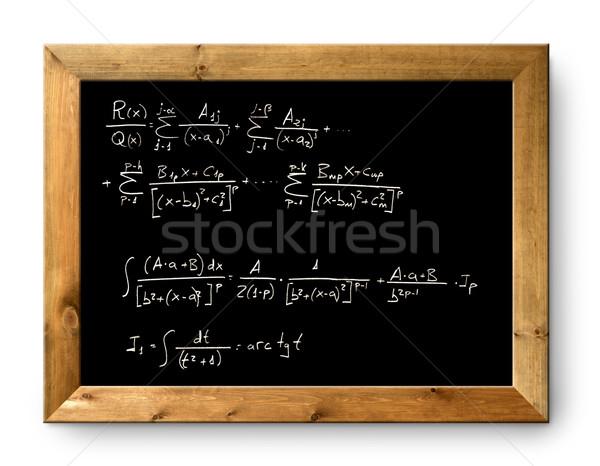 Pokładzie czarny tablicy trudny wzoru matematyki Zdjęcia stock © lunamarina