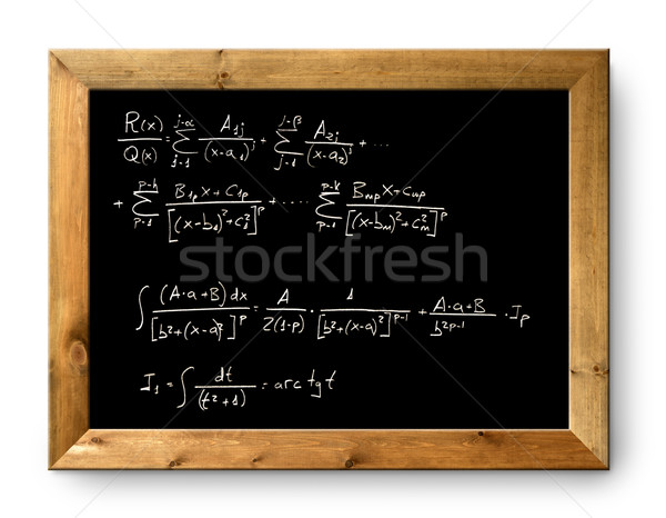 board black blackboard difficult  formula math Stock photo © lunamarina