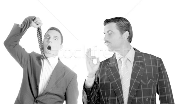 businessman ok gesture hangman depressed by crisis Stock photo © lunamarina