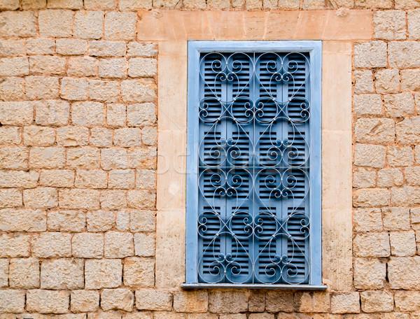 伝統的な 木材 窓 家 壁 ストックフォト © lunamarina