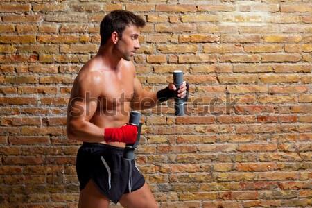 Сток-фото: мышцы · человека · весов · пить