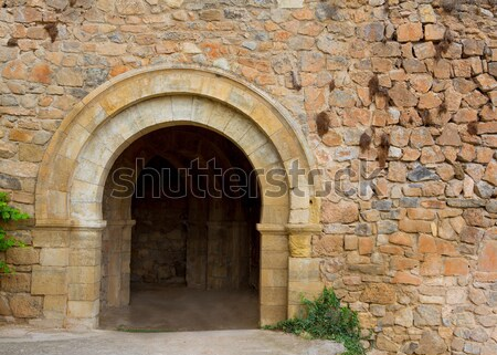 Steen fort Spanje metselwerk la huis Stockfoto © lunamarina