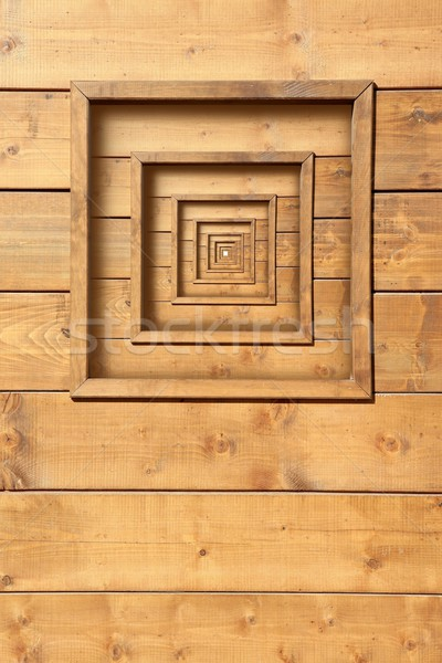 psychedelic wooden window zoom concentric Stock photo © lunamarina