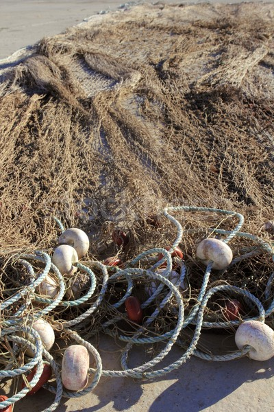 fishing net tackle over soil traditional fishery Stock photo © lunamarina