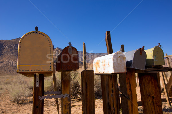 Vintage oeste California desierto buzón Foto stock © lunamarina