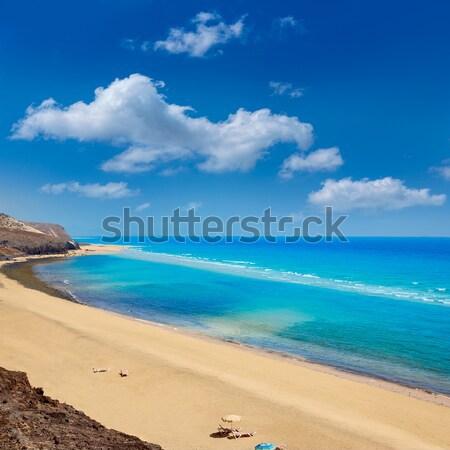 Calpe playa Cantal Roig beach near Penon Ifach Alicante Stock photo © lunamarina