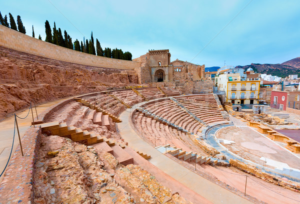 Cartagena Roman Amphitheater in Murcia Spain Stock photo © lunamarina