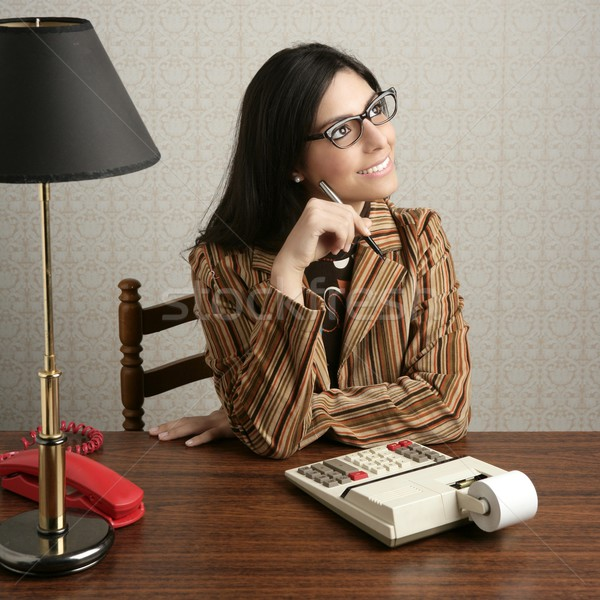 accountant secretary retro woman vintage office Stock photo © lunamarina