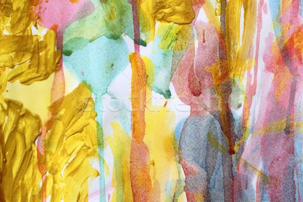 abstract watercolor paint colorful artwork Stock photo © lunamarina