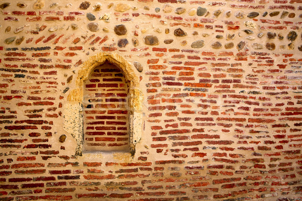 Cathedral of Leon side wall in Castilla Spain Stock photo © lunamarina