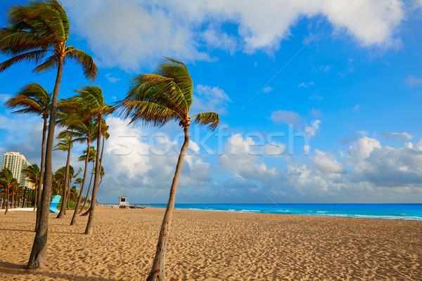Fort Lauderdale tengerpart napfelkelte Florida reggel USA Stock fotó © lunamarina