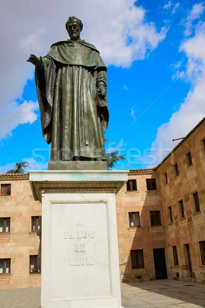 Sculptuur universiteit Spanje stad Blauw reizen Stockfoto © lunamarina