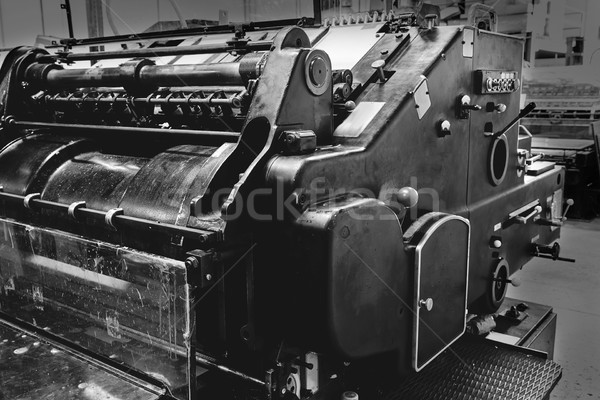 Stok fotoğraf: Yazıcı · silindir · makine · baskı · fabrika · kâğıt