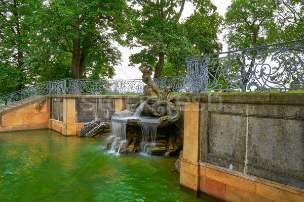 Delphinbrunnen Dolphin Fountain in Dresden Stock photo © lunamarina