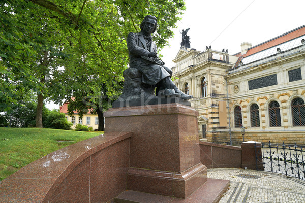 Ludwig Richter memorial denkmal Dresden Germany Stock photo © lunamarina