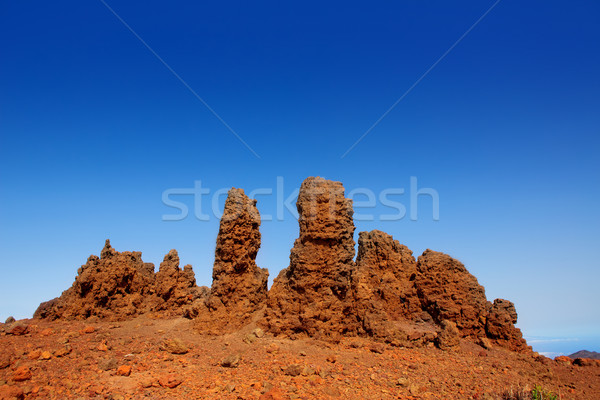 Roque de los Muchachos stones in La Palma Stock photo © lunamarina