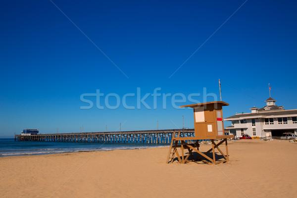 Molo plaży ratownik wieża California USA Zdjęcia stock © lunamarina