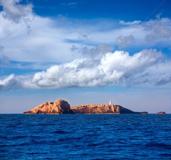 Ibiza Islas bledas Beldes islands with lighthouse Stock photo © lunamarina