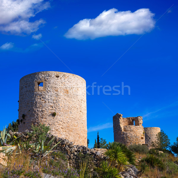 Javea denia San antonio Cape old windmills masonry structure Stock photo © lunamarina