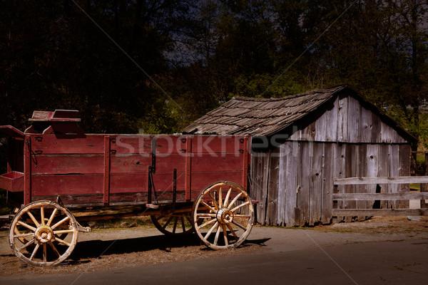 California Columbia carriage in an old Western Gold Rush Town Stock photo © lunamarina