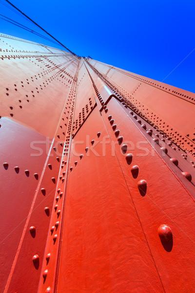 Foto stock: Golden · Gate · Bridge · detalhes · San · Francisco · Califórnia · EUA · céu