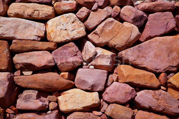 Duvarcılık doku İspanya akdeniz eski duvar Stok fotoğraf © lunamarina