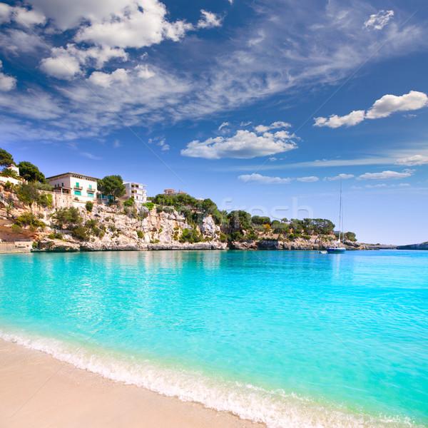 Porto Cristo beach in Manacor Majorca Mallorca Stock photo © lunamarina