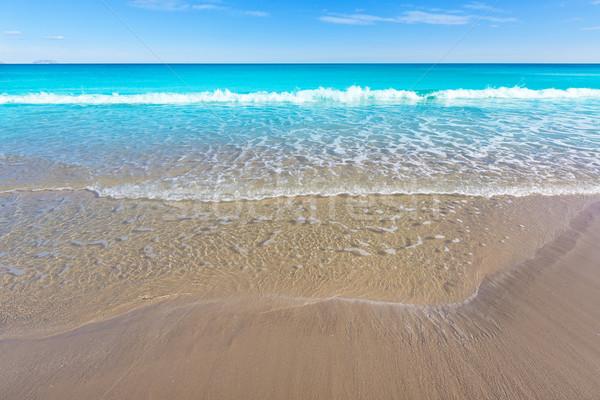 ストックフォト: サンファン · ビーチ · 美しい · 地中海 · スペイン · 海