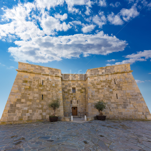 Moraira Castle in teulada beach at Mediterranean Alicante Stock photo © lunamarina