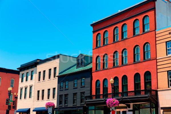 Georgetown historical district facades Washington Stock photo © lunamarina