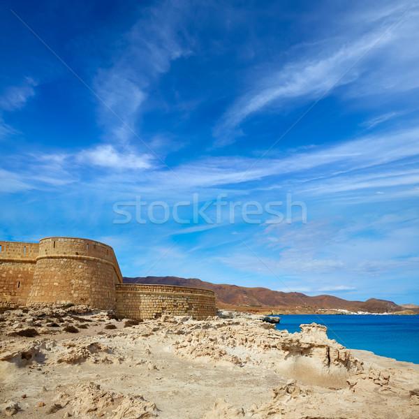 Almeria Cabo de Gata fortress Los Escullos beach Stock photo © lunamarina