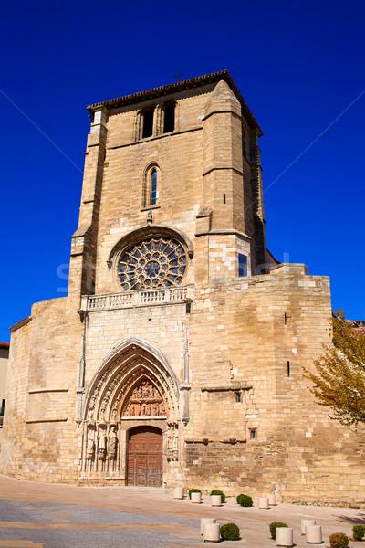 Stock photo: Burgos San Esteban church facade Castilla Spain