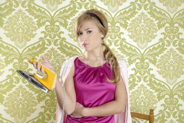 Stockfoto: Kleding · ijzer · vintage · vrouw · retro · huisvrouw