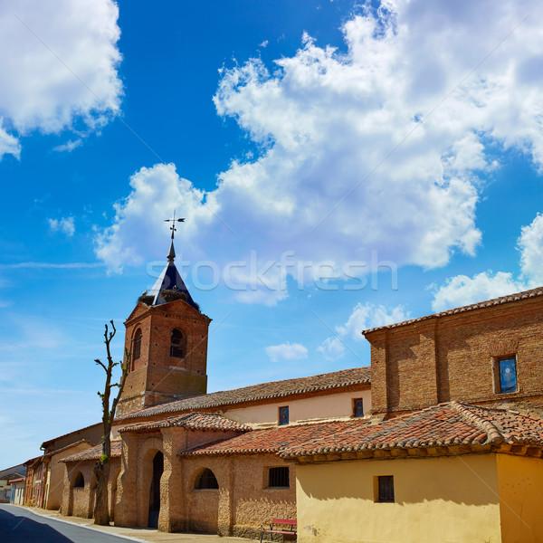 El burgo Ranero by Saint James Way in Leon Stock photo © lunamarina