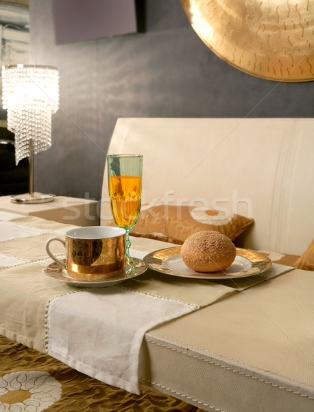 Asian modern bedroom breakfast luxury table Stock photo © lunamarina