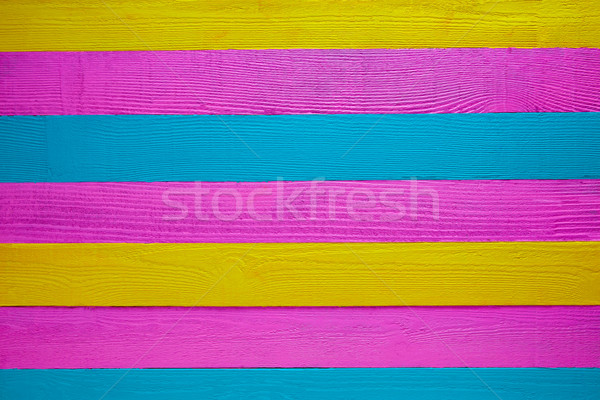 Mexican wood background green pink yellow Stock photo © lunamarina