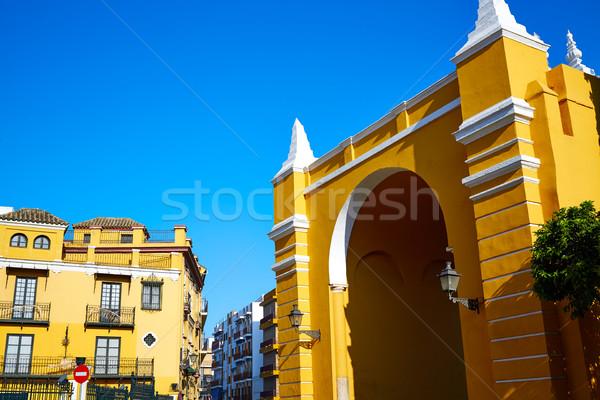 LA ív ajtó Spanyolország város fal Stock fotó © lunamarina