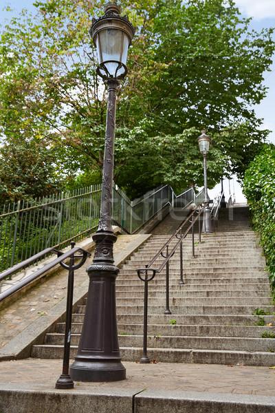 Paris montmartre merdiven merdiven ulaşmak şehir Stok fotoğraf © lunamarina