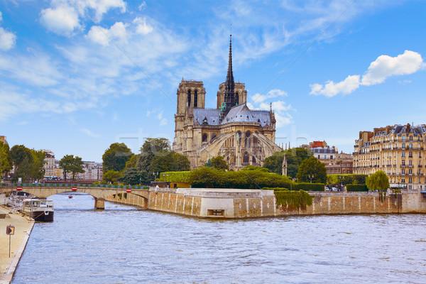 Catedral de Notre Dame Paris França francês gótico arquitetura Foto stock © lunamarina