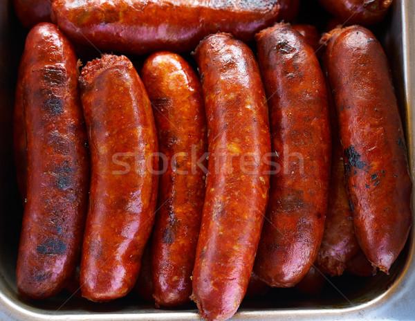 чоризо колбаса приготовленный барбекю Мексика продовольствие Сток-фото © lunamarina