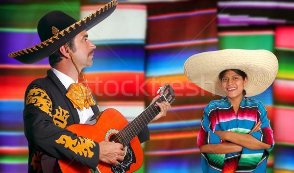 Mexicano homem México menina mulher música Foto stock © lunamarina
