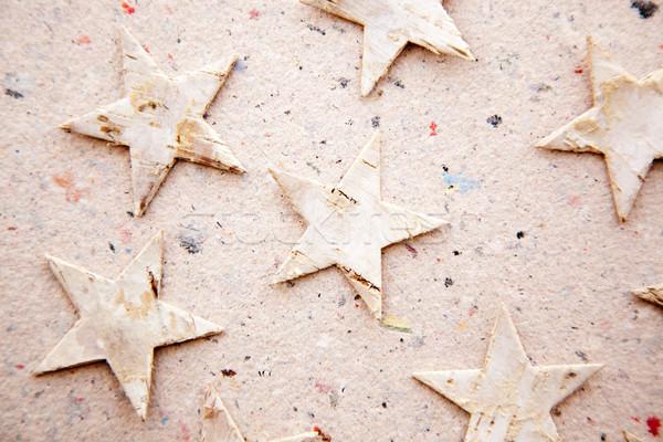 クリスマス 星 リサイクル 紙 生態学 メタファー ストックフォト © lunamarina